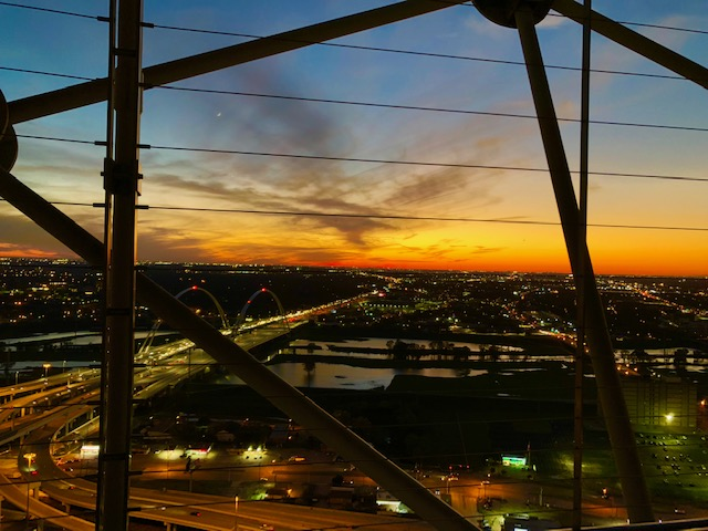 sunset texas, travel wallet